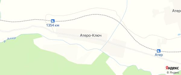 Карта деревни Атеро-Ключа в Пермском крае с улицами и номерами домов