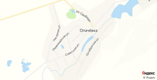 Карта села Опачевка в Пермском крае с улицами, домами и почтовыми отделениями со спутника онлайн