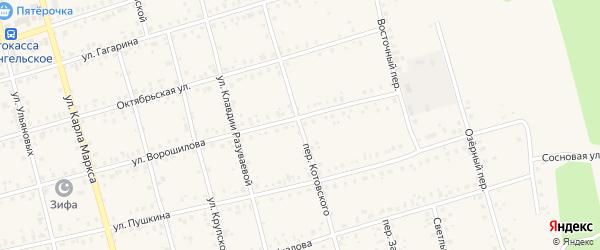 Переулок Котовского на карте Архангельского села с номерами домов