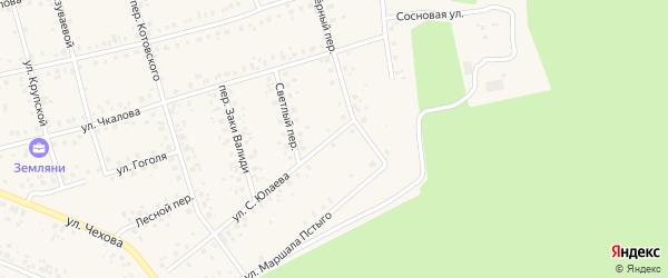Озерный переулок на карте Архангельского села с номерами домов