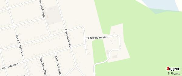 Сосновая улица на карте Архангельского села Башкортостана с номерами домов