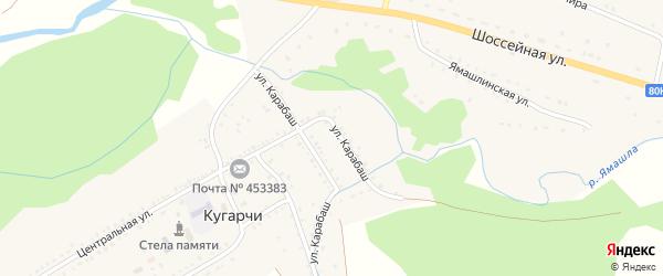 Шоссейная улица на карте села Кугарч с номерами домов