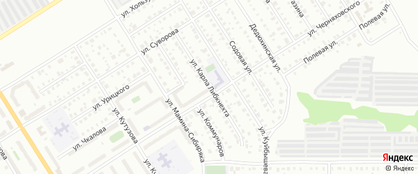 Улица Карла Либкнехта на карте Березников с номерами домов