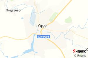 Карта с. Орда Пермский край