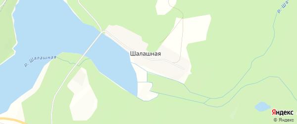 Карта Шалашной деревни города Чусового в Пермском крае с улицами и номерами домов