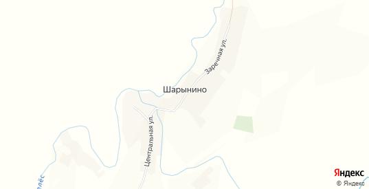 Карта деревни Шарынино в Пермском крае с улицами, домами и почтовыми отделениями со спутника онлайн