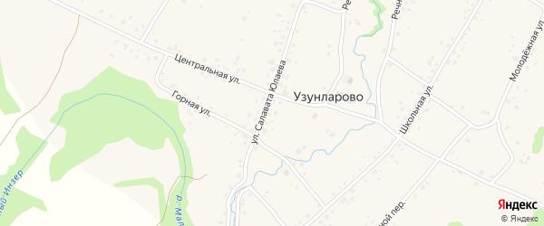 Улица Салавата Юлаева на карте села Узунларово с номерами домов