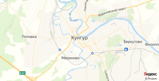 Карта Кунгура с улицами и домами подробная. Показать со спутника номера домов онлайн