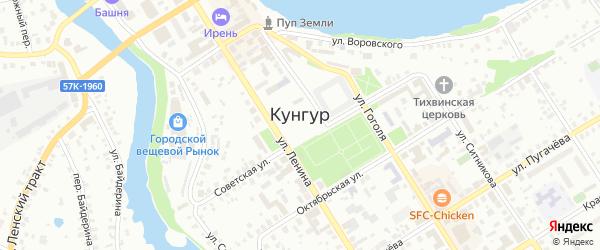 Лесной переулок на карте Кунгура с номерами домов
