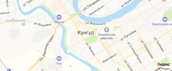 Территория ГСК N 1 на карте Кунгура с номерами домов