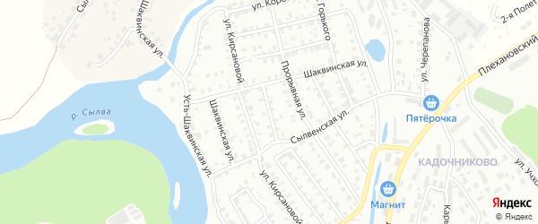 Игнатьевский переулок на карте Кунгура с номерами домов