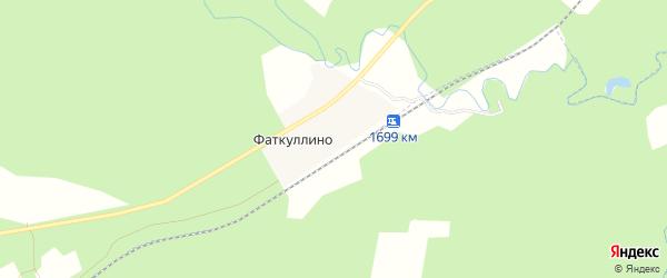 Карта деревни Фаткуллино в Башкортостане с улицами и номерами домов