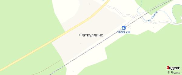 Подгорная улица на карте деревни Фаткуллино Башкортостана с номерами домов