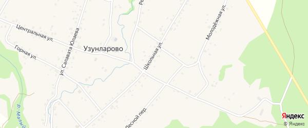 Школьная улица на карте села Узунларово с номерами домов