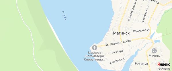 Территория ДНТ Родничок на карте Караидельского района Башкортостана с номерами домов