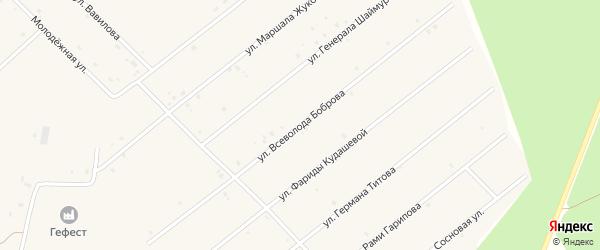 Улица Всеволода Боброва на карте села Абызово Башкортостана с номерами домов