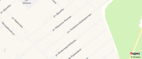Улица Генерала Шаймуратова на карте села Абызово Башкортостана с номерами домов