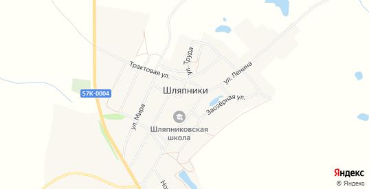 Карта села Шляпники в Пермском крае с улицами, домами и почтовыми отделениями со спутника онлайн