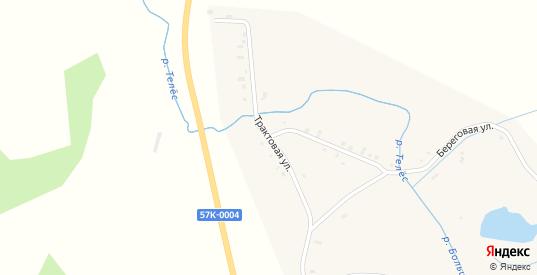 Трактовая улица в деревне Михино в Пермском крае с номерами домов на карте. Спутник и схема онлайн