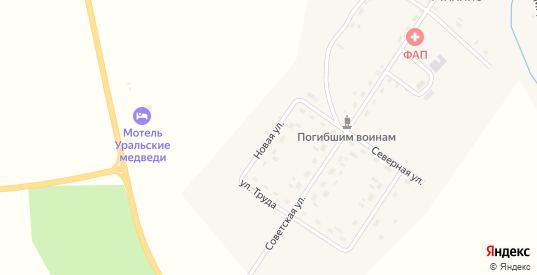 Новая улица в деревне Михино в Пермском крае с номерами домов на карте. Спутник и схема онлайн