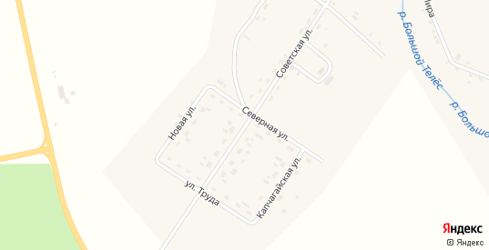 Советская улица в деревне Михино в Пермском крае с номерами домов на карте. Спутник и схема онлайн