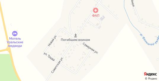 Северная улица в деревне Михино в Пермском крае с номерами домов на карте. Спутник и схема онлайн