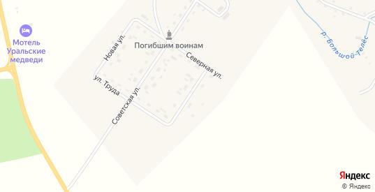 Копчагайская улица в деревне Михино в Пермском крае с номерами домов на карте. Спутник и схема онлайн