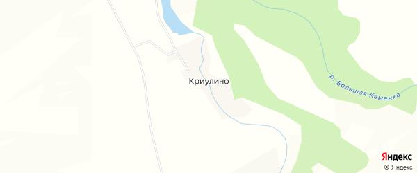 Карта деревни Криулино в Пермском крае с улицами и номерами домов