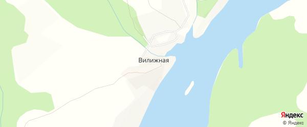 Карта Вилижной деревни города Чусового в Пермском крае с улицами и номерами домов