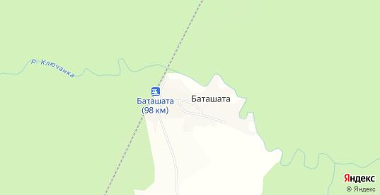 Карта деревни Баташата в Добрянке с улицами, домами и почтовыми отделениями со спутника онлайн