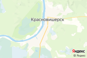 Карта г. Красновишерск Пермский край