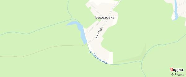 Карта деревни Березовки города Чусового в Пермском крае с улицами и номерами домов