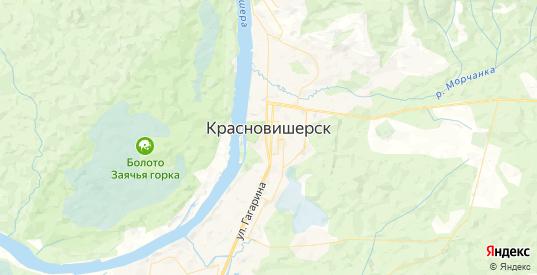 Карта Красновишерска с улицами и домами подробная. Показать со спутника номера домов онлайн