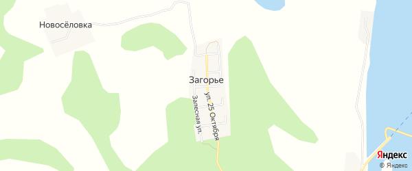 Карта деревни Загорья города Чусового в Пермском крае с улицами и номерами домов