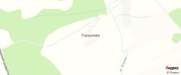 Карта деревни Глазуново города Чусового в Пермском крае с улицами и номерами домов