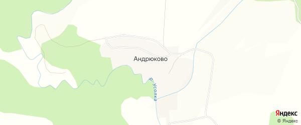 Карта деревни Андрюково города Чусового в Пермском крае с улицами и номерами домов