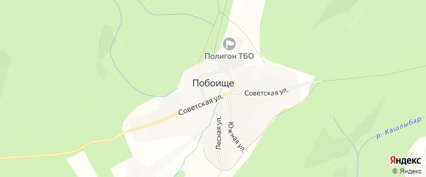 Карта села Побоища в Башкортостане с улицами и номерами домов