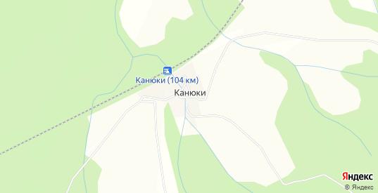 Карта деревни Канюки в Добрянке с улицами, домами и почтовыми отделениями со спутника онлайн