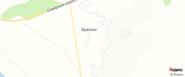 Карта деревни Брагино города Чусового в Пермском крае с улицами и номерами домов