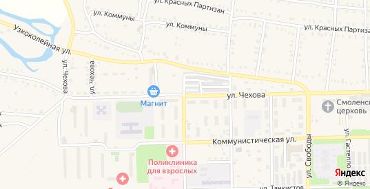 Улица Чехова в Аше с номерами домов на карте. Спутник и схема онлайн