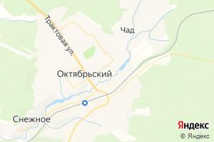 Карта пос. Октябрьский Пермский край