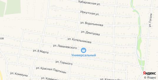 Улица Котельникова в Аше с номерами домов на карте. Спутник и схема онлайн