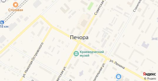 Территория гск Звезда-2 в Печоре с номерами домов на карте. Спутник и схема онлайн