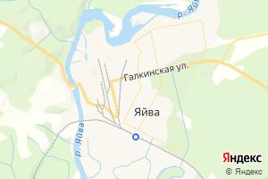 Карта пос. Яйва Пермский край