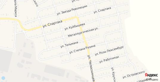 Улица Тельмана в Аше с номерами домов на карте. Спутник и схема онлайн