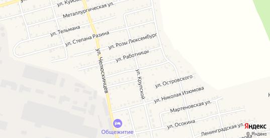 Силовая улица в Аше с номерами домов на карте. Спутник и схема онлайн