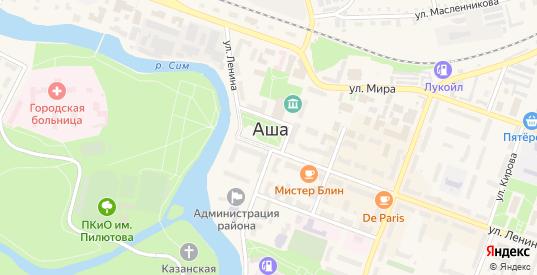 Километр 1722 в Аше с номерами домов на карте. Спутник и схема онлайн