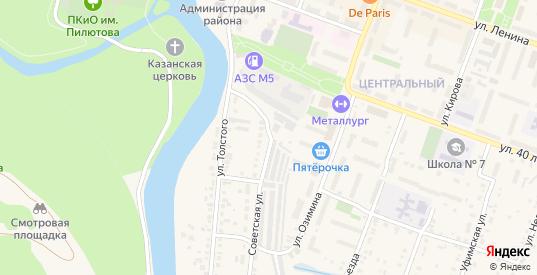 Советская улица в Аше с номерами домов на карте. Спутник и схема онлайн