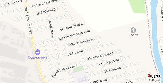 Мартеновская улица в Аше с номерами домов на карте. Спутник и схема онлайн