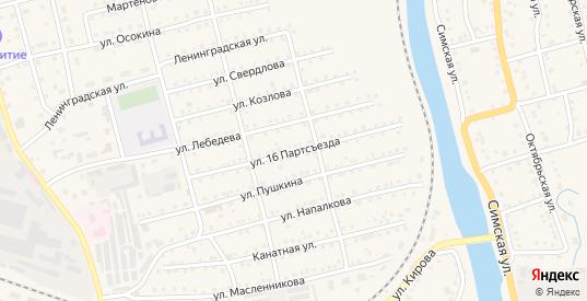 Улица 16 Партсъезда в Аше с номерами домов на карте. Спутник и схема онлайн